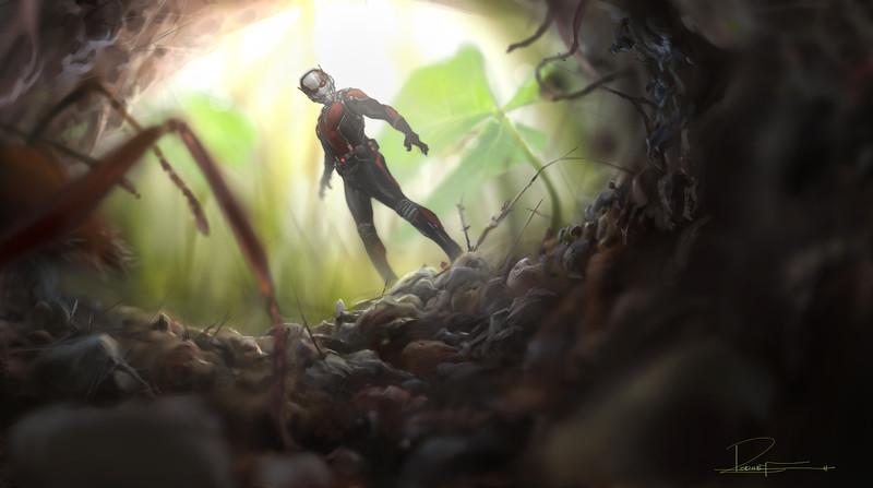 Marvel's Ant-Man<br /> <br /> Conceptual Artwork of Scott Lang/Ant-Man<br /> <br /> Artist: Rodney Fuentebella<br /> <br /> © Marvel 2014