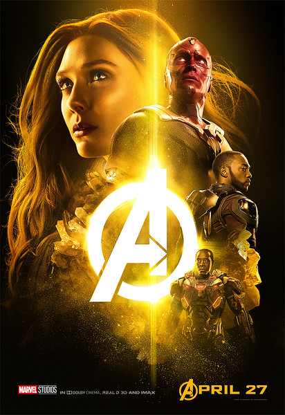 Explosive posters for AVENGERS INFINITY WAR highlight key players