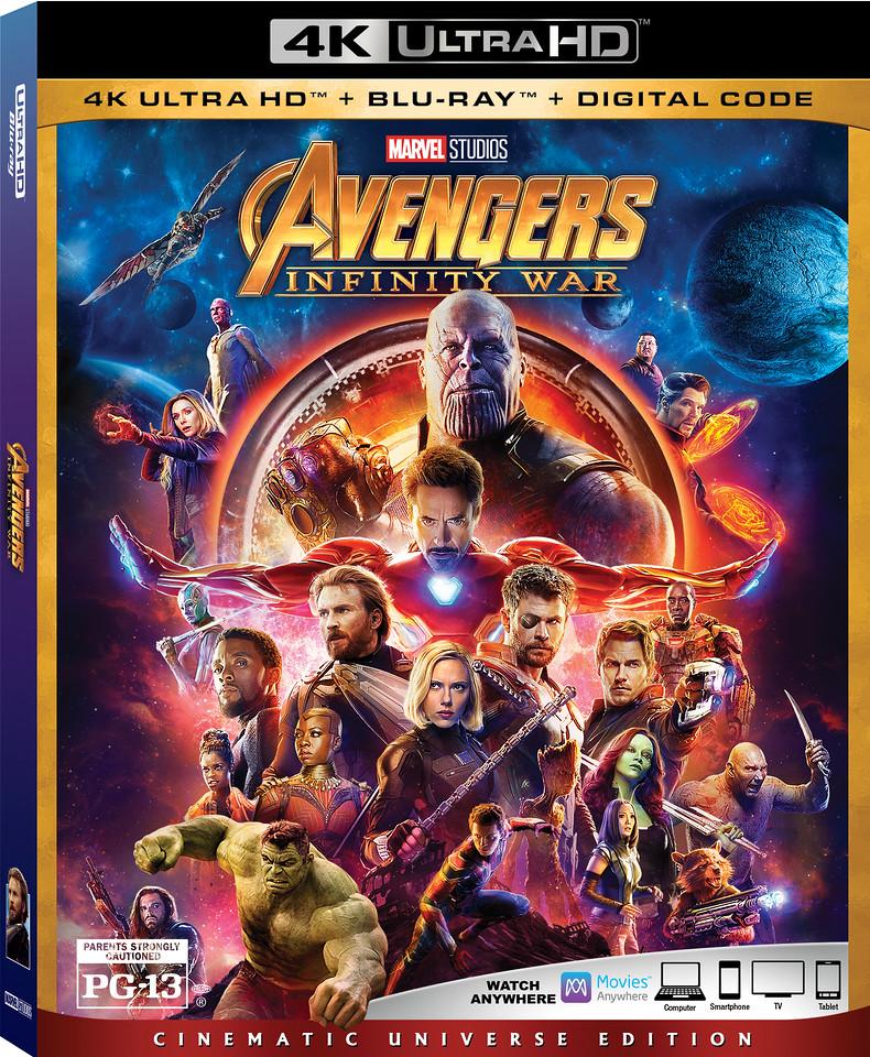 Avengers Infinity War 4K UHD Box Art