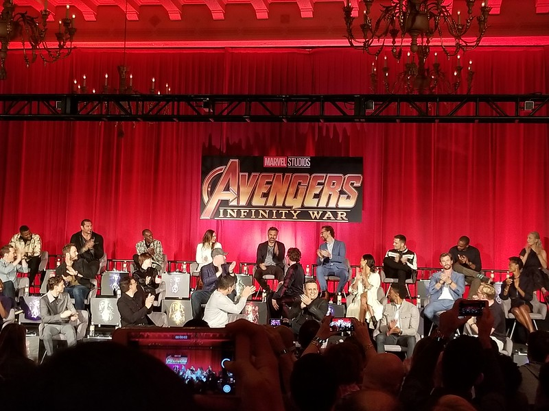 PICS: Nearly every single AVENGER showed up in LA today for the #InfinityWar press conference