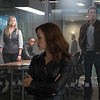 Marvel's Captain America: Civil War<br /> <br /> L to R: Sharon Carter/Agent 13 (Emily VanCamp), Sam Wilson/Falcon (Anthony Mackie), Natasha Romanoff/Black Widow (Scarlett Johansson), and Steve Rogers/Captain America (Chris Evans)<br /> <br /> Photo Credit: Zade Rosenthal<br /> <br /> © Marvel 2016