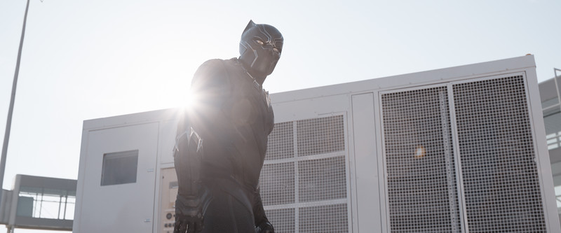 Marvel's Captain America: Civil War<br /> <br /> Black Panther/T'Challa (Chadwick Boseman)<br /> <br /> Photo Credit: Film Frame<br /> <br /> © Marvel 2016