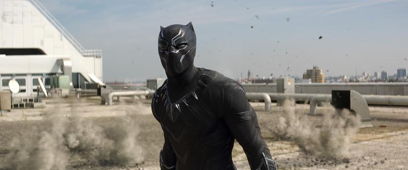 Marvel's Captain America: Civil War<br /> <br /> Black Panther/T'Challa (Chadwick Boseman)<br /> <br /> Photo Credit: Film Frame<br /> <br /> © Marvel 2016