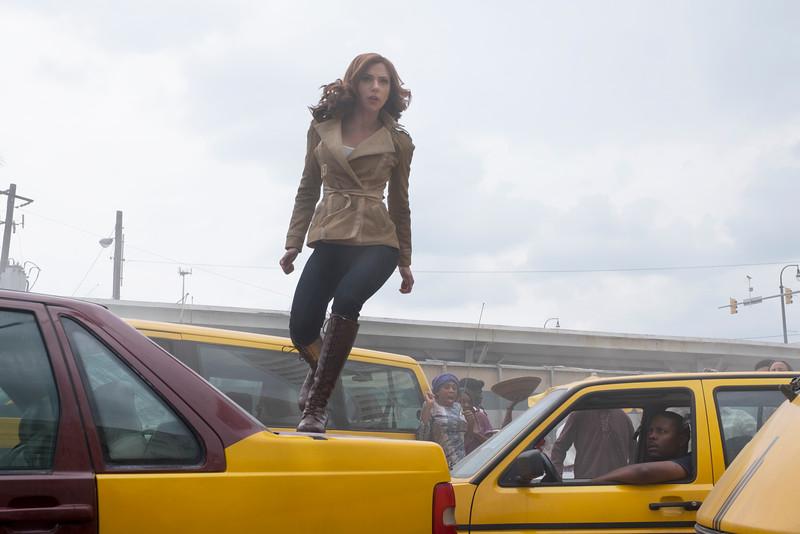 Marvel's Captain America: Civil War<br /> <br /> Black Widow/Natasha Romanoff (Scarlett Johansson)<br /> <br /> Photo Credit: Zade Rosenthal<br /> <br /> © Marvel 2016