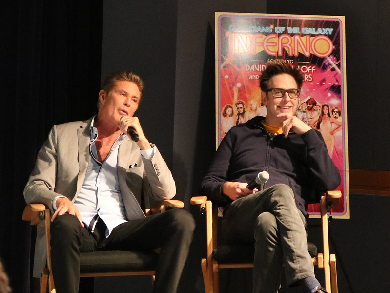 James Gunn and David Hasselhoff chatted with us about GUARDIANS OF THE GALAXY VOL. 2