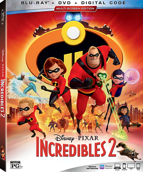 REVIEW: Home release of INCREDIBLES 2 offers super assortment of extras