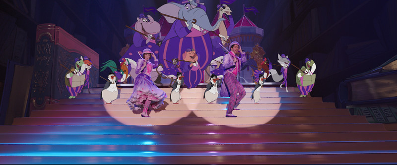 MARY POPPINS RETURNS at El Capitan; curtain show, costumes, opening night celebration