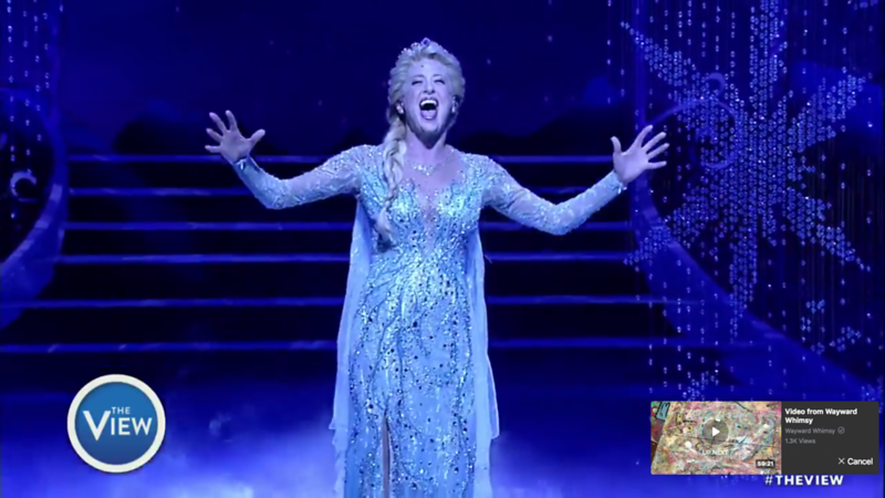 WATCH: Full 'Let It Go' number from FROZEN Broadway Musical shown on THE VIEW