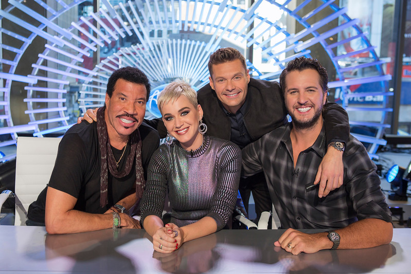 AMERICAN IDOL reboots in NYC with Host Ryan Seacreast and judges Katy Perry, Luke Bryan, and Lionell Richie
