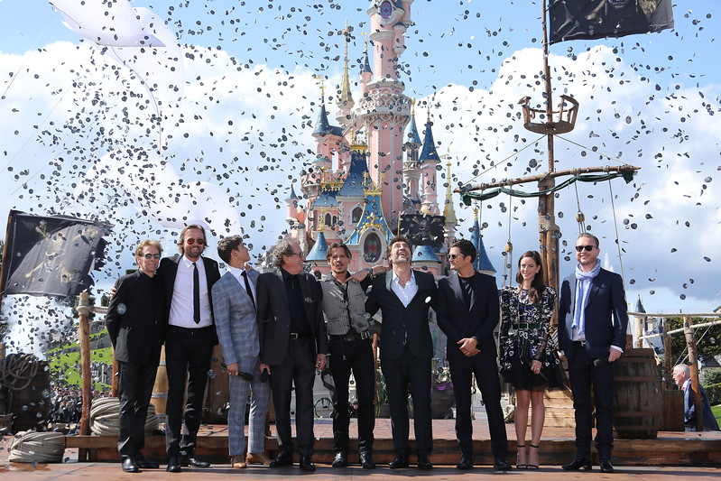 'Pirates of the Caribbean: Dead Men Tell No Tales' cast at Disneyland Paris