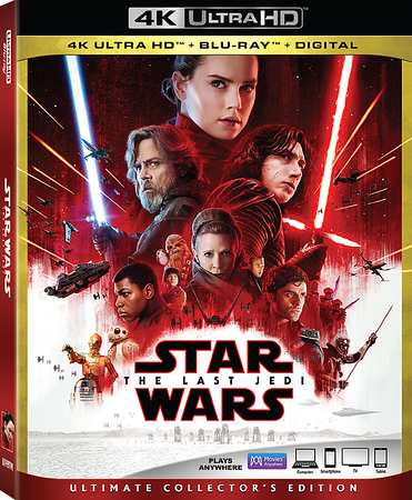 STAR WARS: THE LAST JEDI is coming home on 4K / BD / Digital with Dolby Vision / Atmos