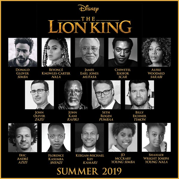 THE LION KING voice cast confirmed, Beyoncé, Woodard, and more