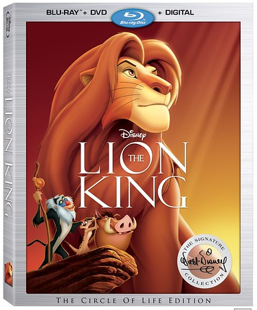 THE LION KING home release re-issued on 'Walt Disney Signature Collection'