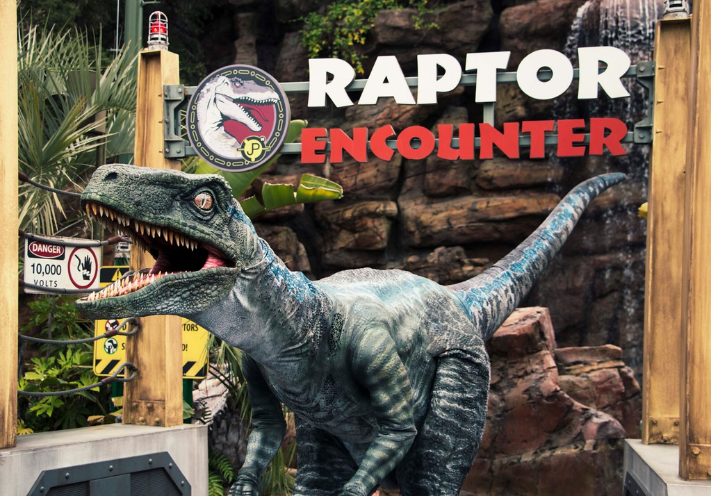 Meet Velociraptor BLUE and join in on the Coutndown to Extinction at Universal Studios
