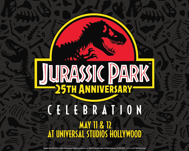 'Jurassic Park 25th Anniversary Celebration' promises dino-sized fun May 11 and 12