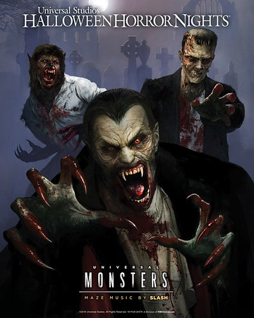 Classic UNIVERSAL MONSTERS get a contemporary twist at Hollywood HALLOWEEN HORROR NIGHTS