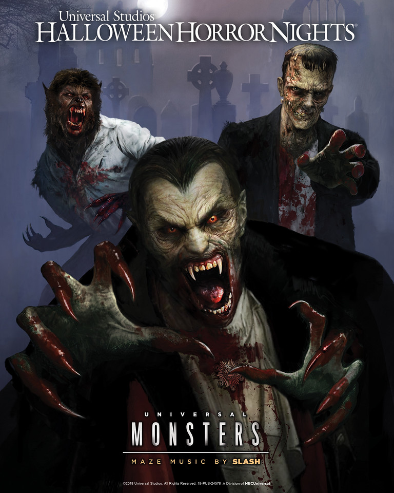 Universal Monsters at HHN 2018 (logo)