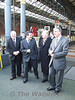The Minister for Transport Noel Dempsey and CIE Chairman John Lynch walk up to the front of the train. Wed 19.12.07