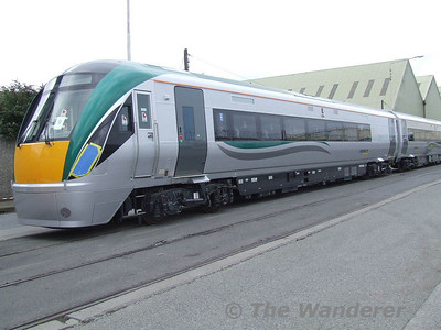 IE's new 22000 Class DMU's arrive on Irish Shores.