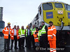 Staff from Iarnrod Eireann, International Warehousing & Transport & Dublin Port were on hand to watch the loading operation. Wed 19.08.09