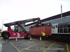 The first container is loaded onto the train. Courtesy of KZG68. Wed 19.08.09