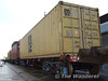 Medite Shipping Company container MSCU 479890 8 after loading onto the train at Alexandra Road. Wed 19.08.09