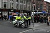 Gardai wait to close off a section of O'Connell Street for the launch at 1145. Sat 09.12.17