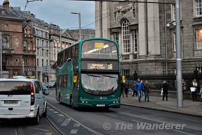 Debranded Airlink VG34 passes College Green on a 16 to Ballinteer. Sat 09.12.17