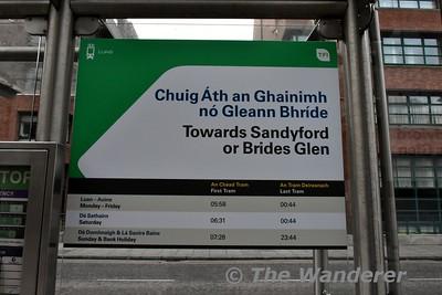 Information panels at Harcourt. Sat 09.12.17
