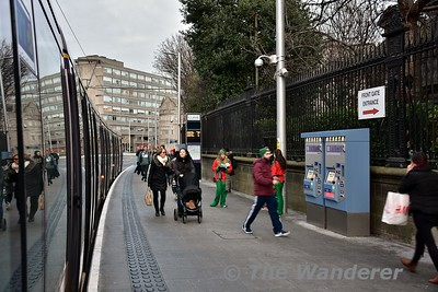 College Green Tramstop. Southbound trams only stop here. Sat 09.12.17