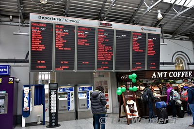 The #JJCommunity Mystery Train on the departure board at Heuston. Sat 18.03.17
