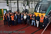Group photo of some of the staff at Laois Traincare Depot for the 10th Anniversary celebrations on Friday 26th October 2018. The depot opened on Tuesday 30th April 2008 with the official opening occuring on Friday 25th July 2008. Fri 26.10.18<br /> <br /> Photo courtesy of Kieran Marshall.