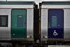 The contrast being old door livery (left) and the new door livery on the right which contains wheelchair and bicylce  symbols. Wed 21.11.18