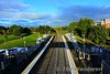 View from the footbridge at Pelletstown looking west towards Ashtown. Sun 26.09.21