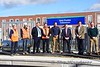Photo call at Pelletstown. Left to right unknown x 2, Gareth Walley, Station Manager Navan Road Parkway, John Reville, Passenger Services Manager North & East, Tánaiste Leo Varadkar TD, Jim Meade CEO of Iarnrod Eireann, Minster Eamon Ryan TD & Minster Roderic O'Gorman. Sun 26.09.21