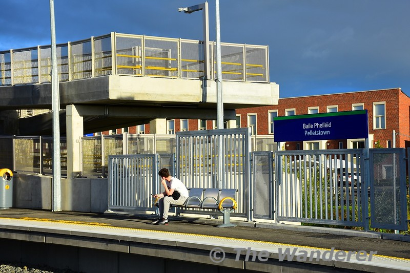 Waiting for the first train at Pelletstown. Sun 26.09.21