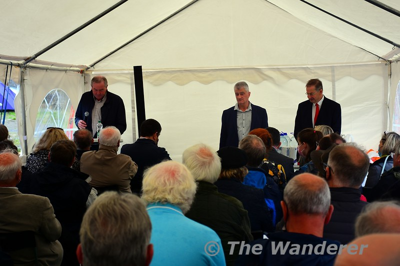 Proceedings about to start in the marquee. Sat 18.09.21