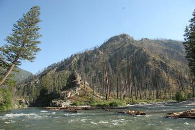 Looking upstream from Below Pistol Creek.