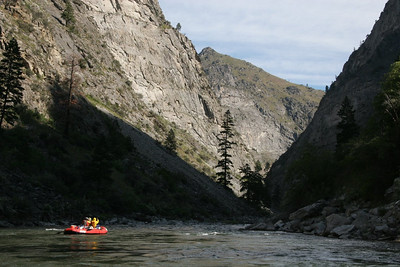 Idaho Batholith slabs in the heart of the Impassable Canyon.