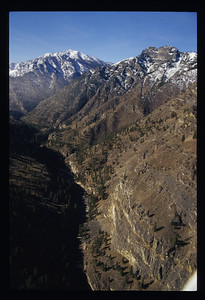 An aerial view of the Impassable Canyon.