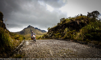cobbled road to mojanda