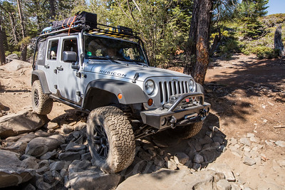 Jeep on the Rubicon Trail