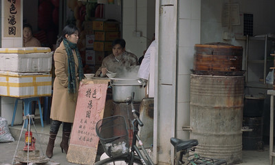 street food vendor, Shanghai, China, 2005