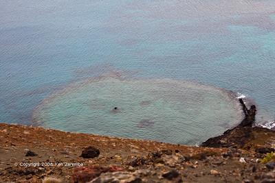 Old cinder cone, Isla Bartolome, 11/07/08