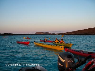 Ocean Kayaking in the Galapagos, 11/07/08
