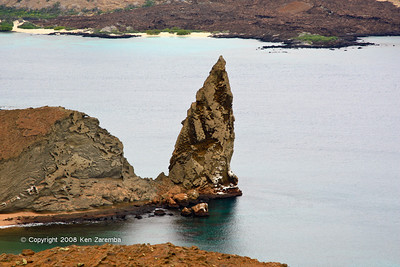 The notable pennacle rock structiere on,Isla Bartolome 11/07/08