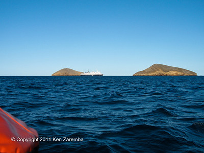 National Geographic Polaris in the distance, Galapagos Islands