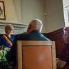 Huldiging gouden bruiloft op stadhuis met burgemeester Martine Fournier - 5 juli 2014 - Menen