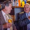 Jacques Brutsaert & vader André Vanhoucke tijdens drink @ Café Belfort - Grote Markt - Menen
