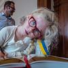 Tessa Vanhoucke tijdens de huldiging gouden bruiloft op stadhuis - 5 juli 2014 - Menen